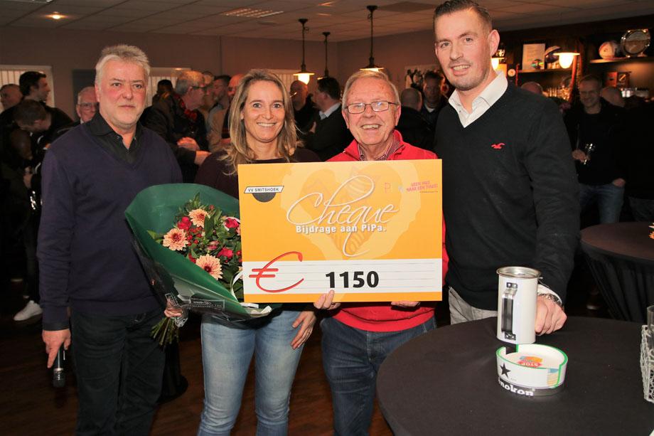 VV Smitshoek steunt Stichting PiPa