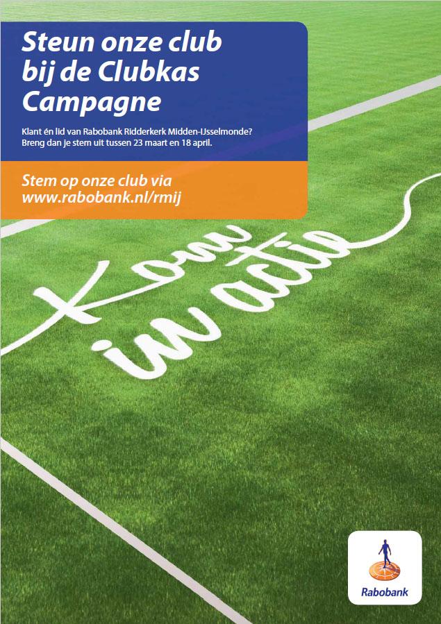 Stem op onze club bij de Rabobank Clubkas Campagne!