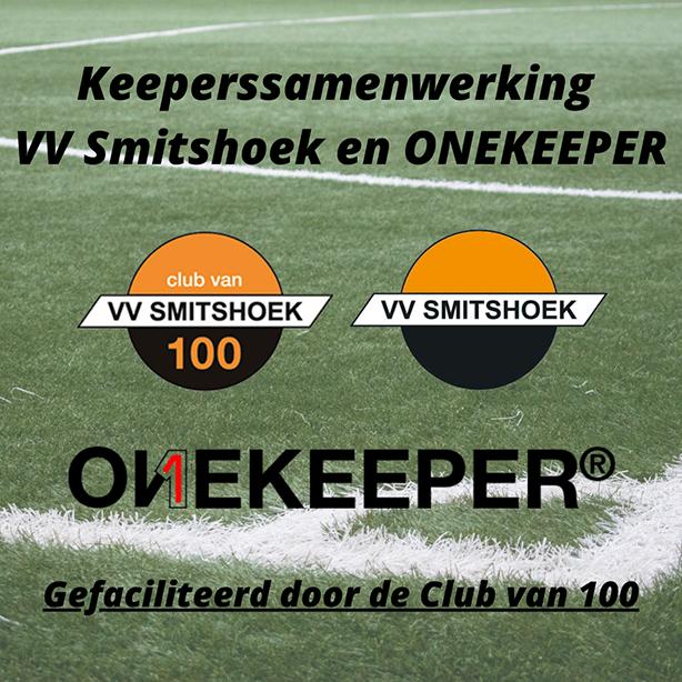 Samenwerking VV Smitshoek en ONEKEEPER, gefaciliteerd door de Club van 100